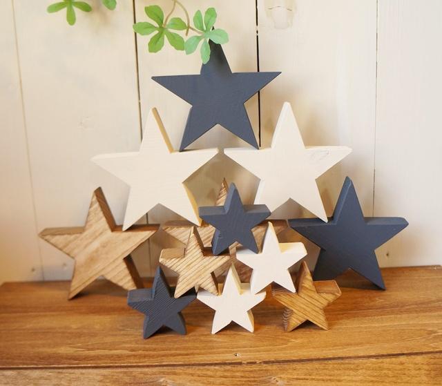 木製の星 小