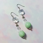 【PriceDown】Paris Vintage chandelier earrings mintgreen