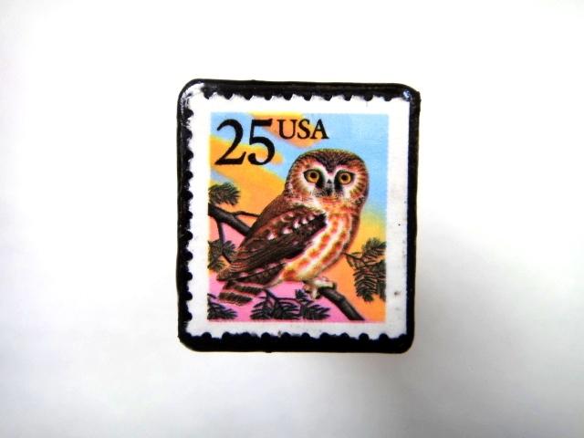 アメリカ 「切手ブローチ」720