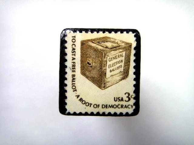 アメリカ 「切手ブローチ」726