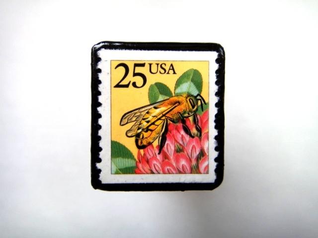 アメリカ 「切手ブローチ」727