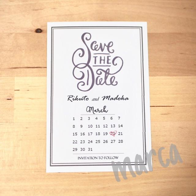 save the date 30枚 ハンドメイドマーケット minne
