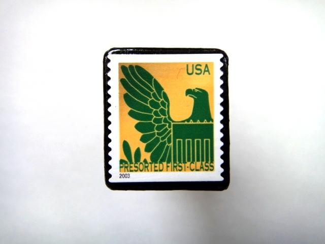 アメリカ 「切手ブローチ」729