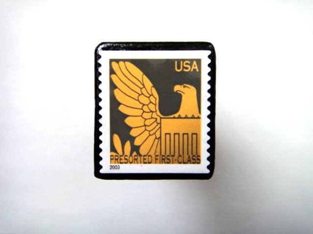 アメリカ 「切手ブローチ」734