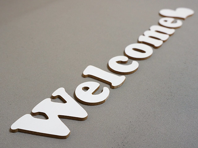『Welcome』ウッドサイン