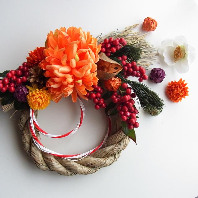 南天とてまり菊 お正月飾り