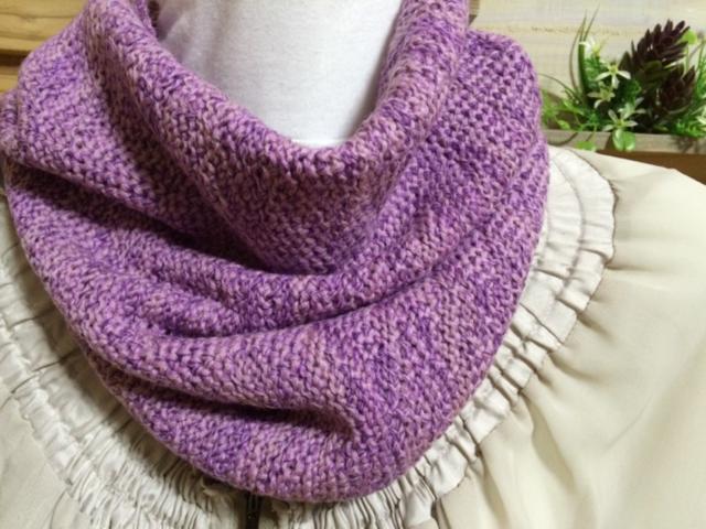 こんなの欲しかった家用ネックウォーマー ピンク&紫