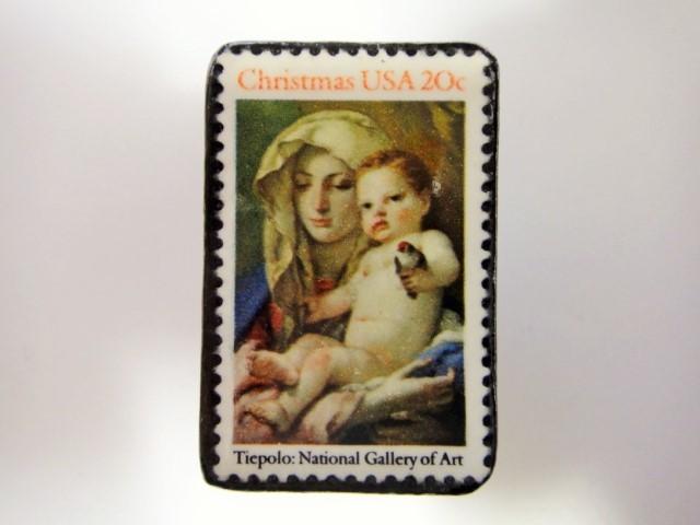 アメリカ クリスマス切手ブローチ 3191