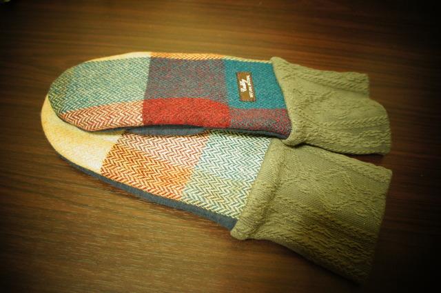 4・レディース用フリーサイズ手袋チェックウール
