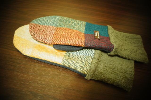 5・レディース用フリーサイズ手袋チェックウール