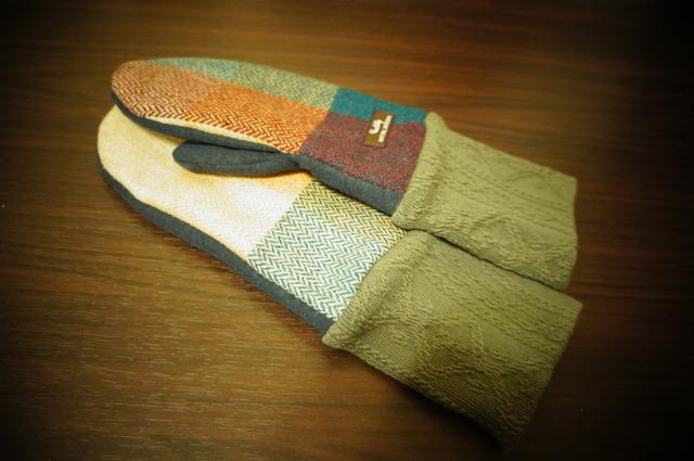 7・レディース用フリーサイズ手袋チェックウール