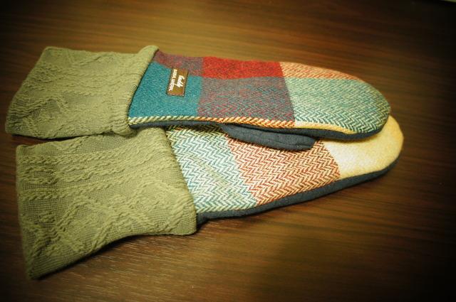 9・レディース用フリーサイズ手袋チェックウール