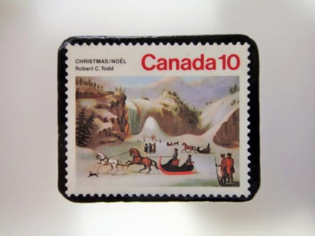 アメリカ クリスマス切手ブローチ 3193