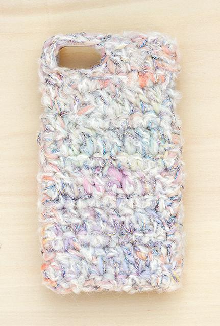 iPhone8ケース -虹色シャンプー-