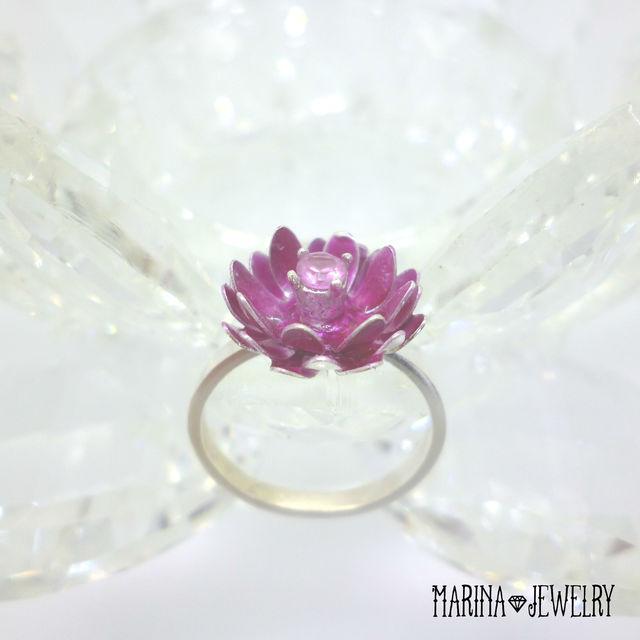 【受注後製作品】Lotus 蓮の花のリング ...