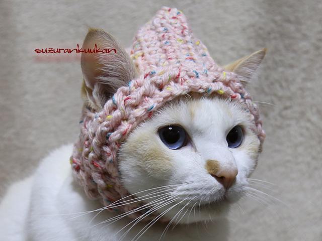 耳出るフード帽<ピンクナッツ>