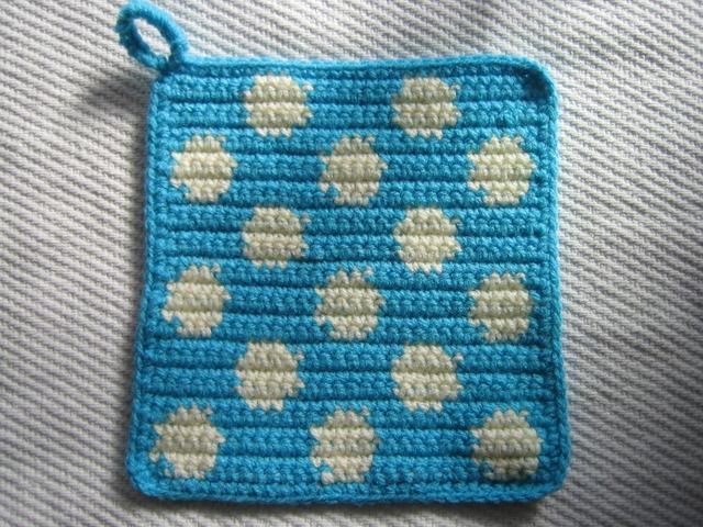 マリメッコ 風 コースター 編み 図