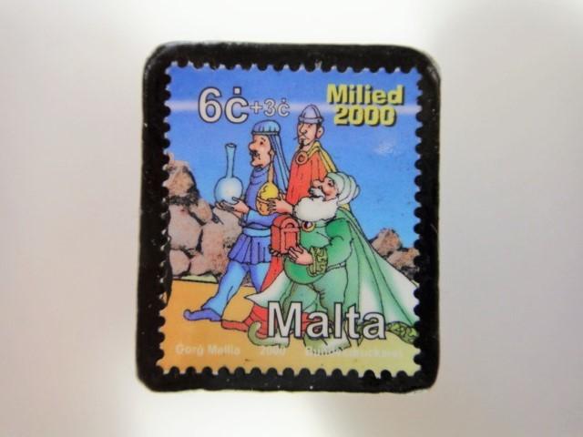 マルタ島 クリスマス切手ブローチ 3198