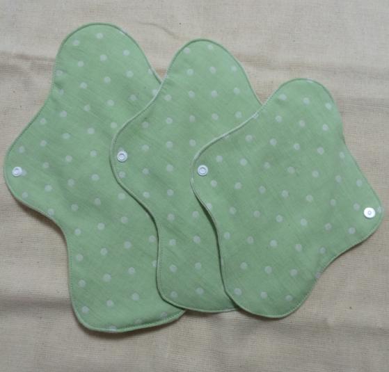 ふんわり月経帯SML3枚セット(シリーズ♪水玉~緑