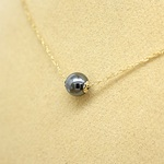 *14kgf*つやつやメタリック*ヘマタイト*ネックレス【金】hematite 14kgf necklace