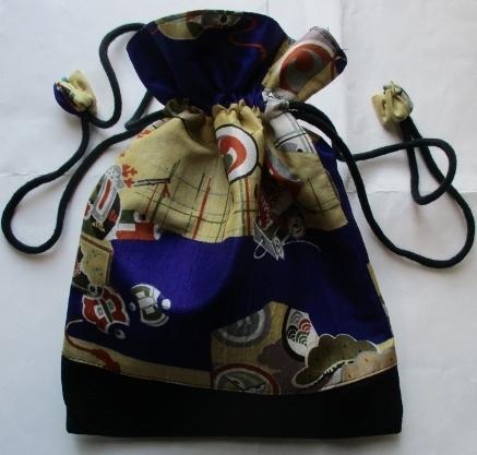 送料無料 お宮参り着で作った巾着袋 ...