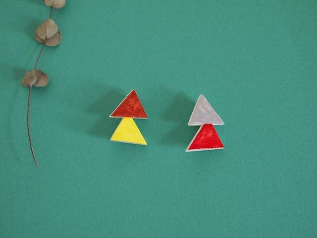 2月:三角×三角ブローチ