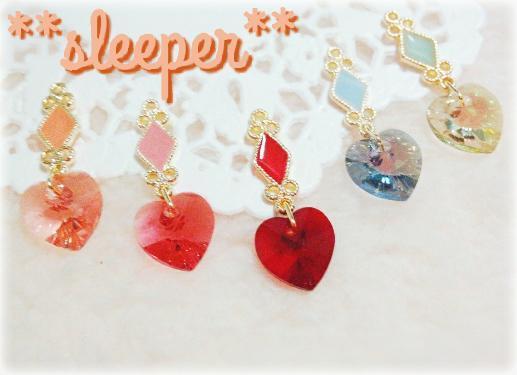 **sleeper** magic of love! ハートドロップ ピアスorイヤリング