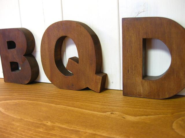 木製 アルファベット切り文字A~Z、& ...