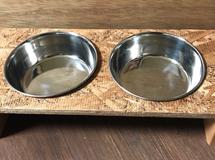 「送料無料♪」犬 猫 うさぎちゃんのごはん台 フード とお水 Sサイズ
