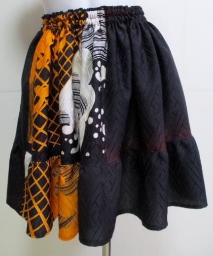 送料無料 舞踊用の着物で作ったミニス...
