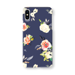 花柄*Navy (005) スマホケース/iPhoneケース/iPhone11/iPhoneXR/iPhoneXS/iPhone8/Xperia/Galaxy/Aquos