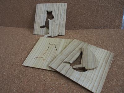猫コースターとマグネット 3個セット品