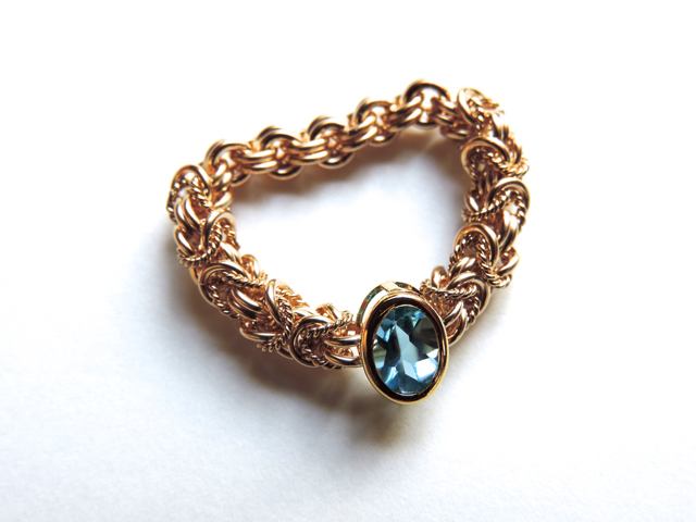 『 Blue sunshine ( inner ) 』Ring by ...