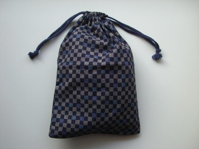 市松 巾着袋(マチなし)