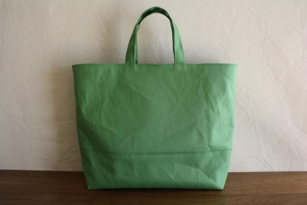 【受注製作】グリーン 倉敷帆布使用トートL