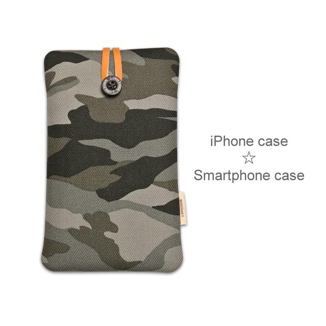 受注制作【L】iPhone7Plus 6sPlus 6Plus スマホケース(迷彩ブラック)