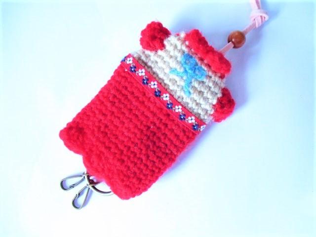 赤い毛糸のワンピース キーカバー