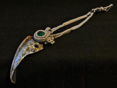 アバロン貝×マラカイトのネックレス