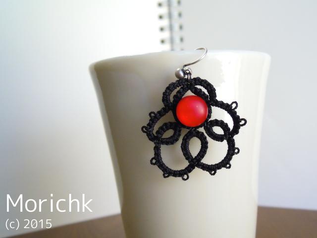 紅い花灯りのイヤリング #15