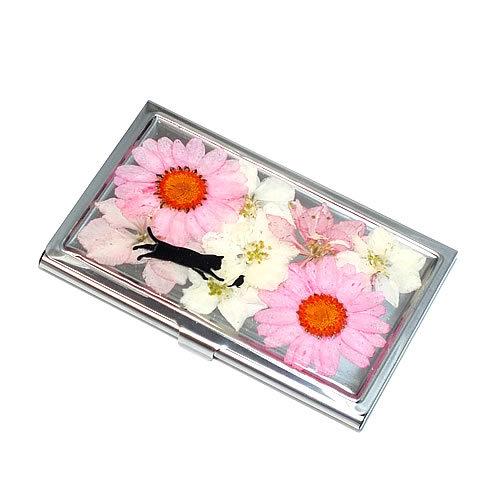 押し花のカードケース(名刺入れ)*ピ...