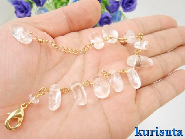 【セール】天然石大粒不揃い水晶 眼鏡...