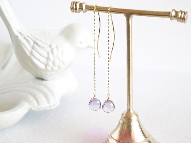 K10 Pinkamethyst Earrings