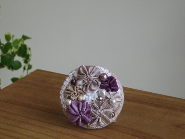 『紫陽花』ブローチ&ヘアクリップ(パー...