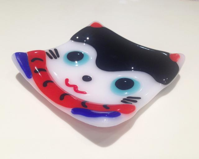【再販】張り子犬の豆皿
