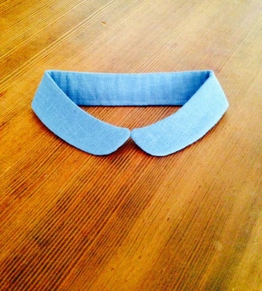 小さめ丸襟の付け襟p