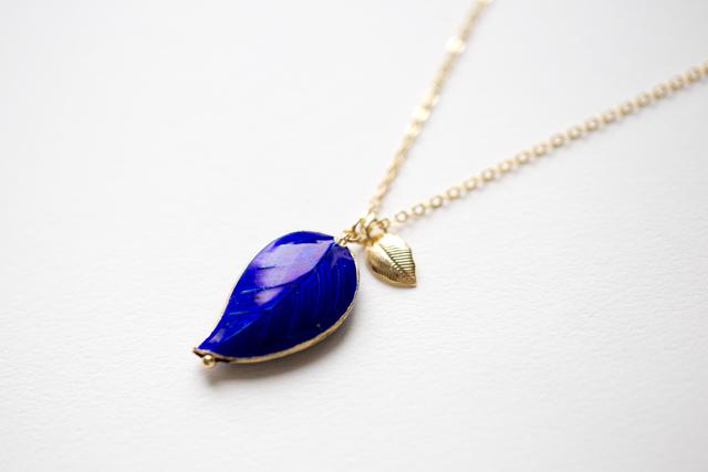 七宝の青葉ネックレス