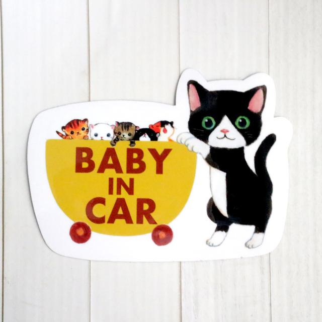 *再×14販* 猫のBABY IN CAR ステッカー