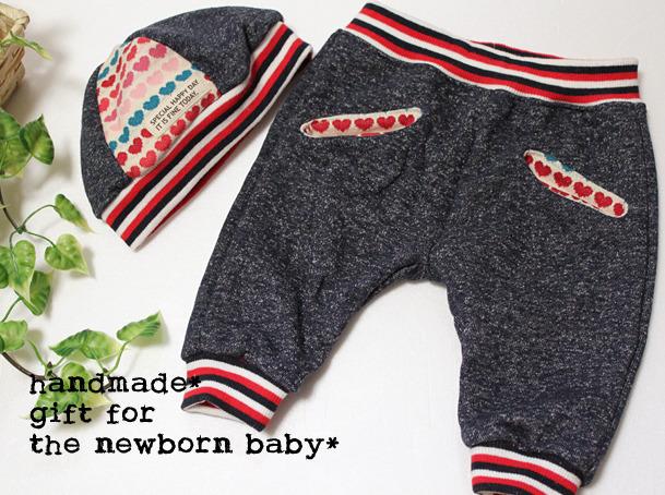 girls babyギフトセット*サルエルパンツ&ニット帽