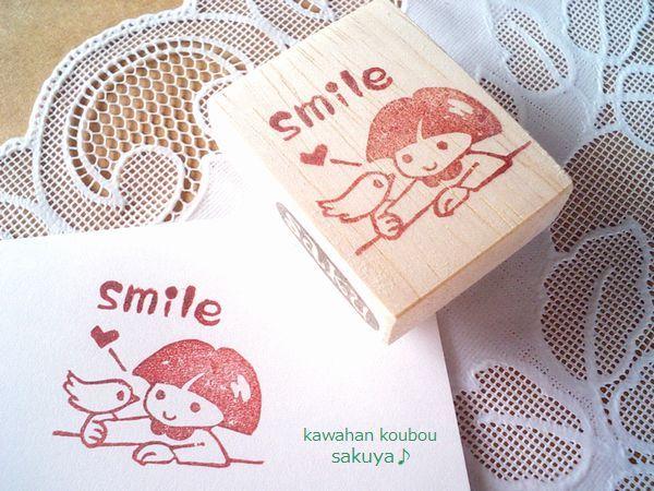 smile女の子と小鳥さん