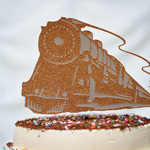 Steam Train Happy Birthday 汽車 3 ケーキトッパー
